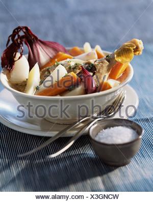 cooking Duck Pot-au-feu - Stock Photo