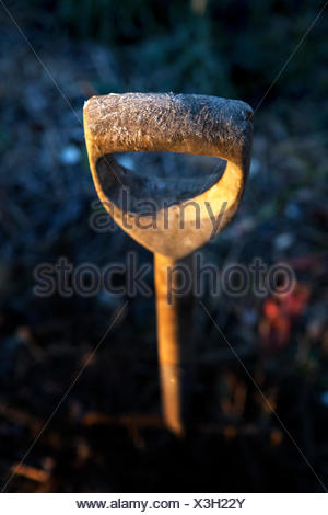 Sweden, Frosted handle of work tool - Stock Photo