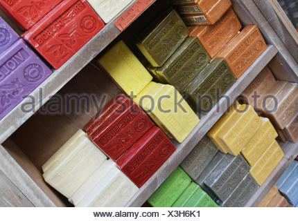 Soap on rack - Stock Photo