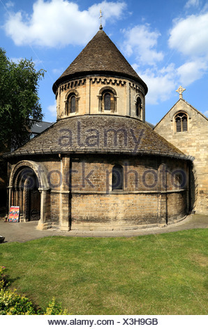 Cambridge, The Round Church, 12th century, commemorating the Holy Sepulchre in Jerusalem, England UK, English round churches - Stock Photo