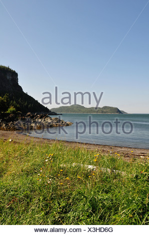 National Park, Parc Nacional du Bic, Quebec, Canada, park, Bic, coast, shore, vegetation, water, - Stock Photo
