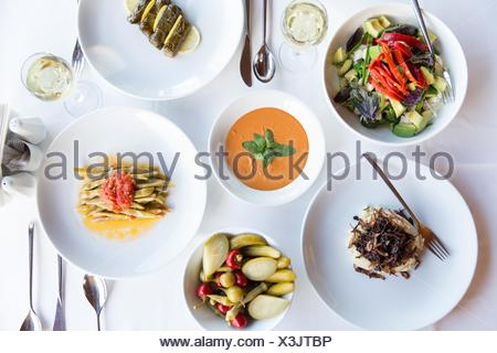 Selection of traditional Turkish dishes, still life - Stock Photo