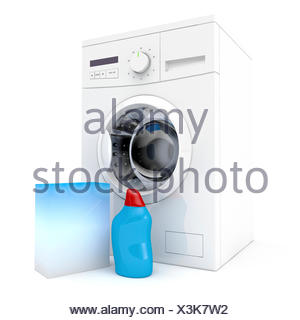 wash, washing, laundry, hygiene, detergent, clean, disinfect, robot, automatic - Stock Photo