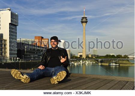 naughty gesture - Stock Photo