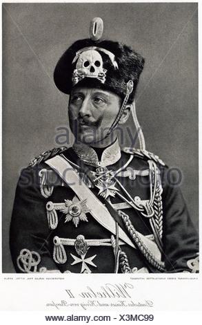 William II, 27.1.1859 - 4.6.1941, German Emperor 15.6.1888 - 9.11.1918, half length, copper print after photography, 19th century,
