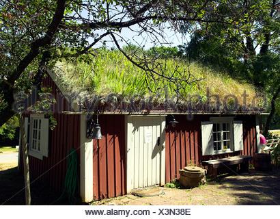 In the park of Castle Solliden, Oland, Sweden - Stock Photo
