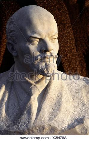 Lenin (Vladimir Ilyich Ulyanov), 22.4.1870 - 21.1.1924, Russian politician, portrait, marble bust, Additional-Rights-Clearances-NA - Stock Photo