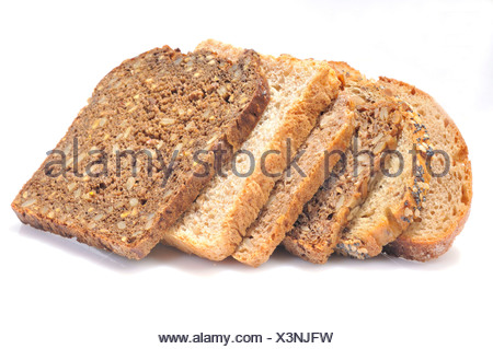 Various kinds of bread - Stock Photo