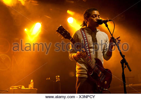 The U.S. singer and songwriter Sananda Maitreya, formerly known as Terence Trent D'Arby, live at the Schueuer venue, Lucerne - Stock Photo