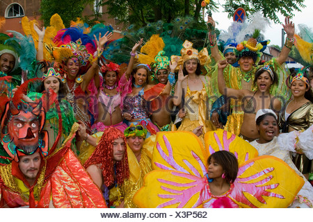Amasonia group, Carnival of Cultures 2009, Berlin, Germany, Europe - Stock Photo