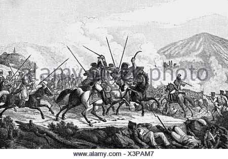 Vandamme, Dominique, 5.11.1770 - 15.7.1830, French general, captured in the Battle of Kulm, 30.8.1813, wood engraving, 19th century, , Additional-Rights-Clearances-NA - Stock Photo