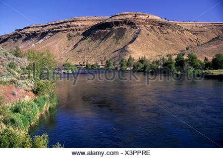 Deschutes Wild and Scenic River from Trout Creek Trail, Prineville District Bureau of Land Management, Oregon. - Stock Photo