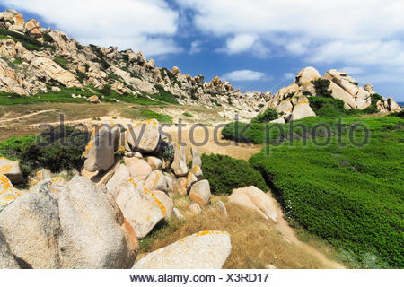 Valle di Luna in the north of Sardinia, Italy, Europe - Stock Photo