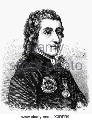 Kaunitz, Wenzel Anton Graf von, 2.2.1711 - 27.6.1794, Austrian politician, chancellor of Austria, portrait, contemporary engraving, , Additional-Rights-Clearances-NA - Stock Photo