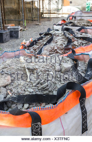 Material from demolished walls - Stock Photo