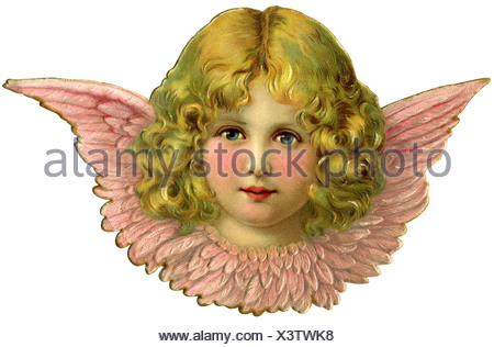 kitsch, cherub, scrap-picture, Germany, 1908, Additional-Rights-Clearences-NA - Stock Photo