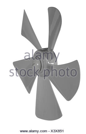 Iimpeller fan isolated on white background - Stock Photo