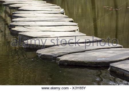 Stony way across water - Stock Photo