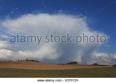 cumulonimbus capillatus incus, near meschede, hochsauerlandkreis, nrw, germany - Stock Photo
