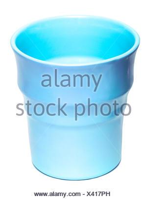 blue vase isolated on white background - Stock Photo