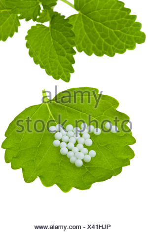 Homeopathy. Globules as alternative medicine - Stock Photo