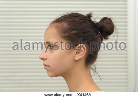 woman profile meditative face aim goal ahead teens teenagers youth woman