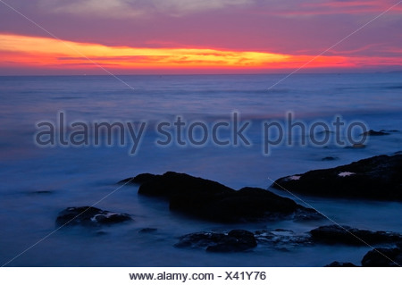 Sunrise over the South Chinese Sea, Viet Nam - Stock Photo