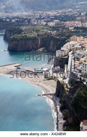 Amalfi, Amalfiküste, Aussicht, Blick, Campania, Golf von Neapel, Italien, Kampanien, Meer, Meta, Mittelmeer, Sorrent - Stock Photo
