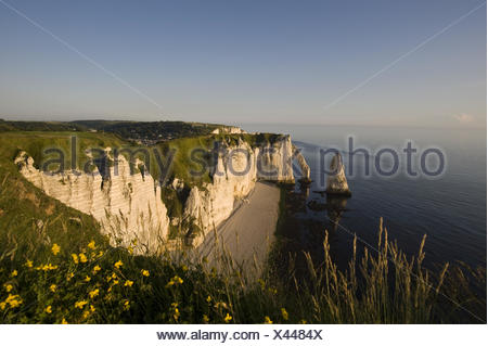 Falaise De Amont, Etretat, - Stock Photo