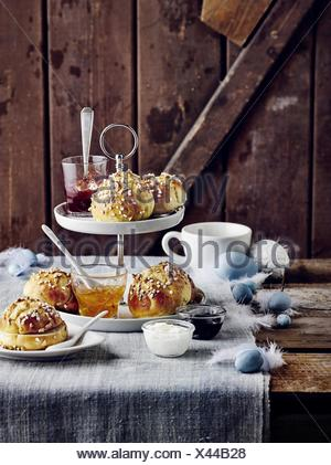 Curd rolls with almonds - Stock Photo