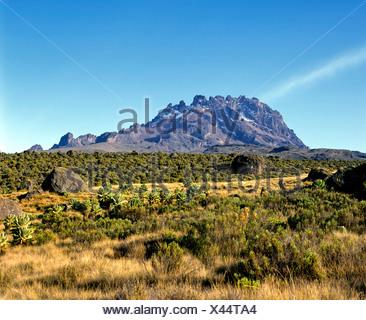 Mawenzi, 5148 metres, Mount Kilimanjaro, National Park, Tanzania, East Africa - Stock Photo