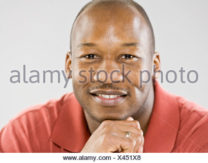 Close up of smiling man's face - Stock Photo
