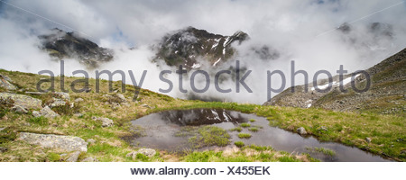 Europe Tyrol Tirol uplands Austria Alps alpine mountain mountain landscape mountain lake mountain scenery landscape water idyll - Stock Photo