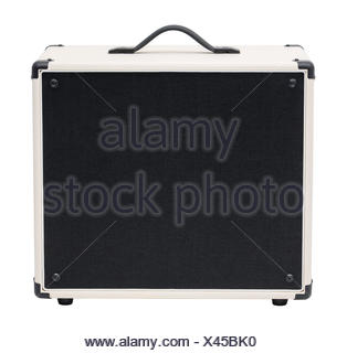 Guitar Amplifier Isolated on White - Stock Photo