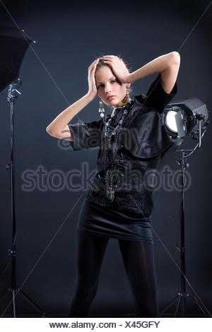 Woman In The Studio - Stock Photo