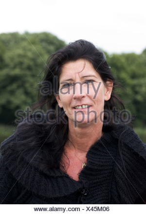 Happy portrait white over 50 - Stock Photo