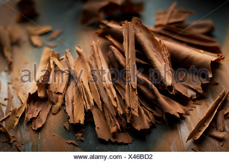 Chocolate flakes - Stock Photo