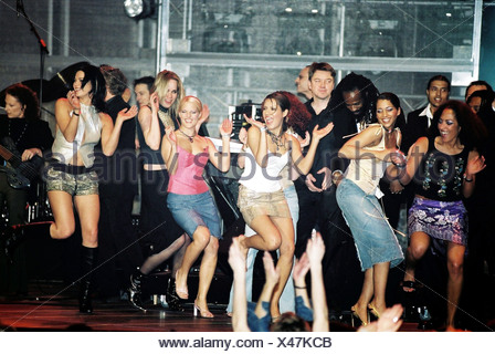 No Angels, German pop group, formed in 2001, onstage at the Echo Awards, Berlin, 2001, Additional-Rights-Clearances-NA - Stock Photo