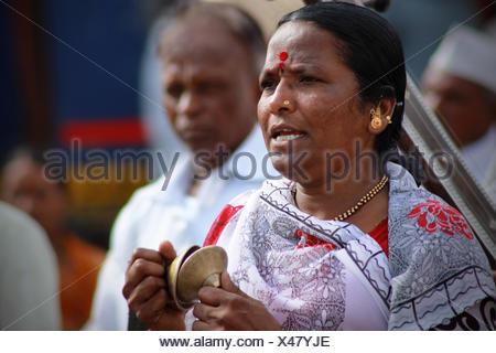 Pilgrims or wari at Pandarpur yatra - Stock Photo