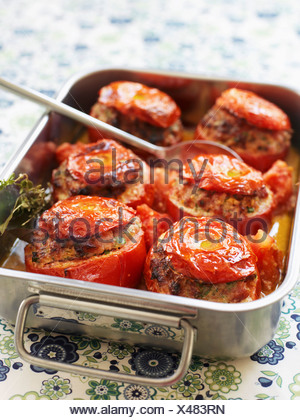 Stuffed tomatoes - Stock Photo