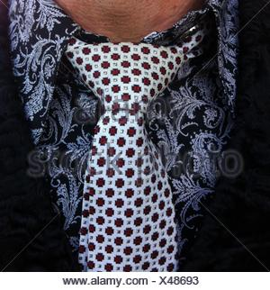 Close up of a man wearing a shirt and tie - Stock Photo