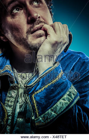 Blue prince, glory concept, funny fantasy picture - Stock Photo