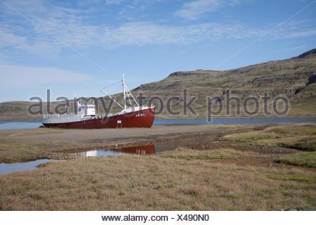 Ship On Shallows - Stock Photo
