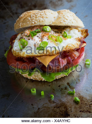 bacon and egg sandwich - Stock Photo