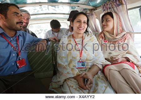 Multan, Pakistan, staff members of Malteser International - Stock Photo