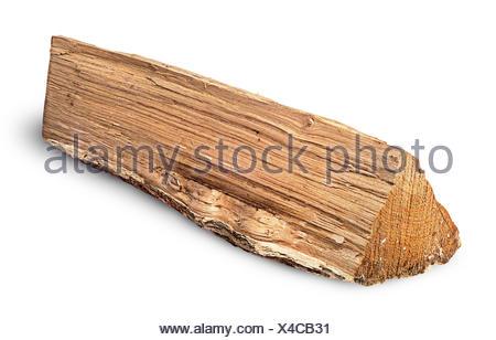 Single log of wood inverted horizontally - Stock Photo