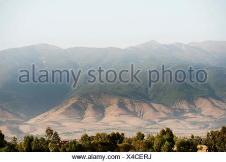 View of Atlas Mountains, Morocco - Stock Photo