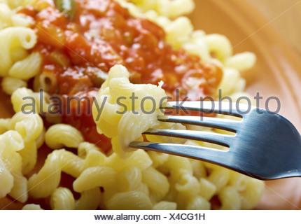 Italian pasta cavatappi - Stock Photo