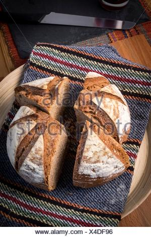 Organic homemade bread. - Stock Photo