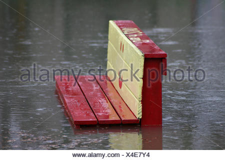 flood on a playground - Stock Photo